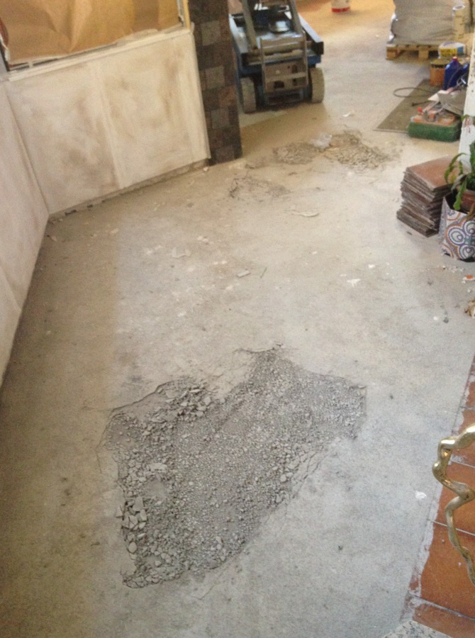 Reparando el suelo