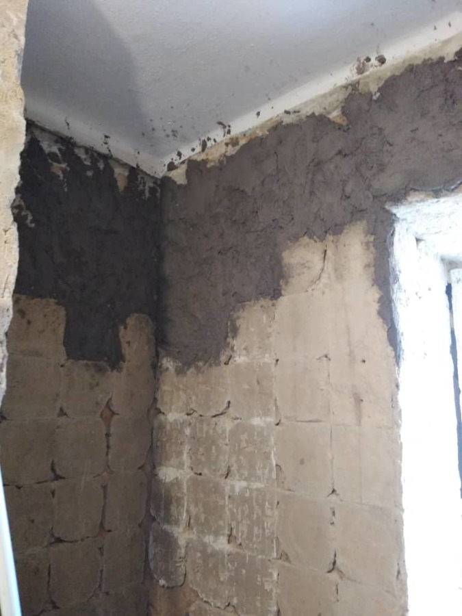 Resane de paredes y bordes de ventanas