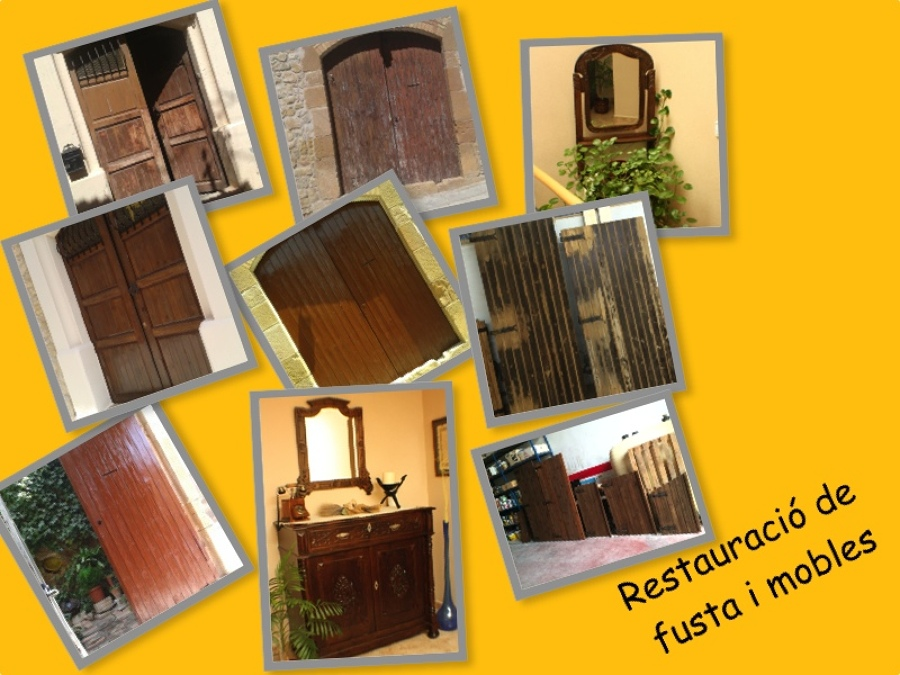 Obras realizadas por pintures oromi ideas pintores - Restauracion de muebles de madera ...