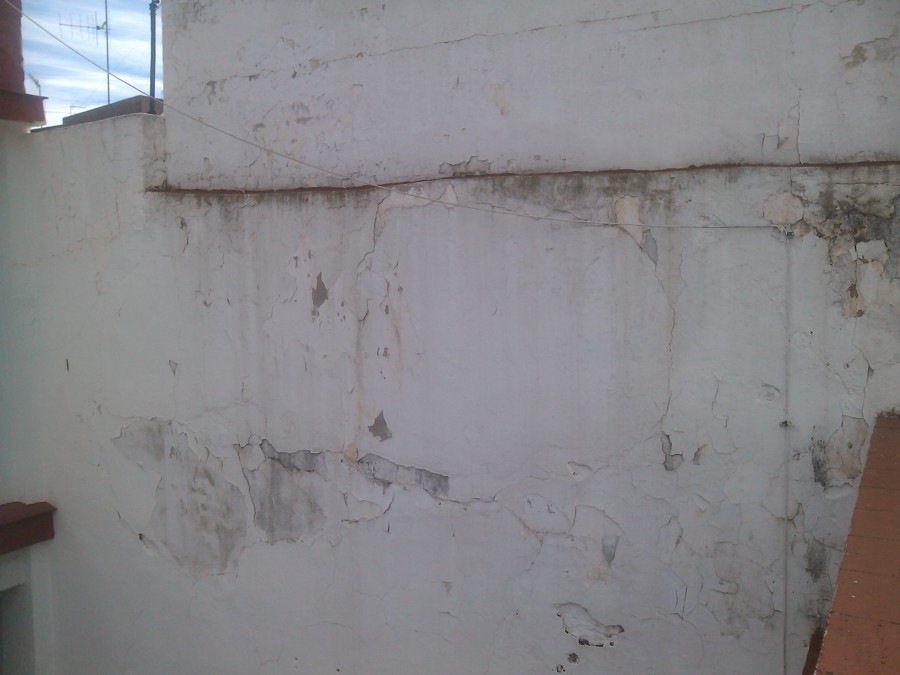 Restauración de muro medianero y terminación en monocapa