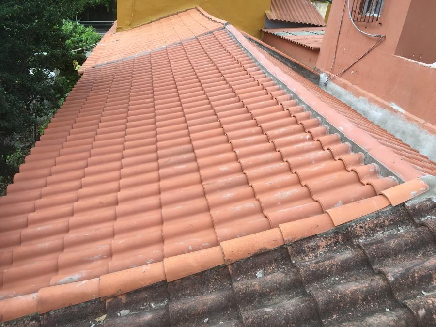 Restauracion de tejado en mal estado