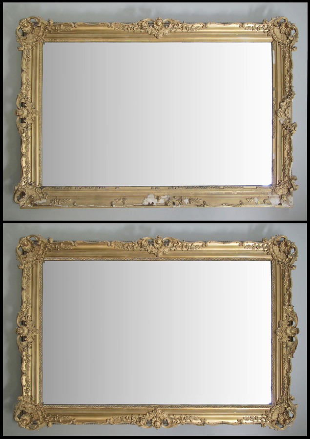 Restauración marco espejo estilo Victorianodorado