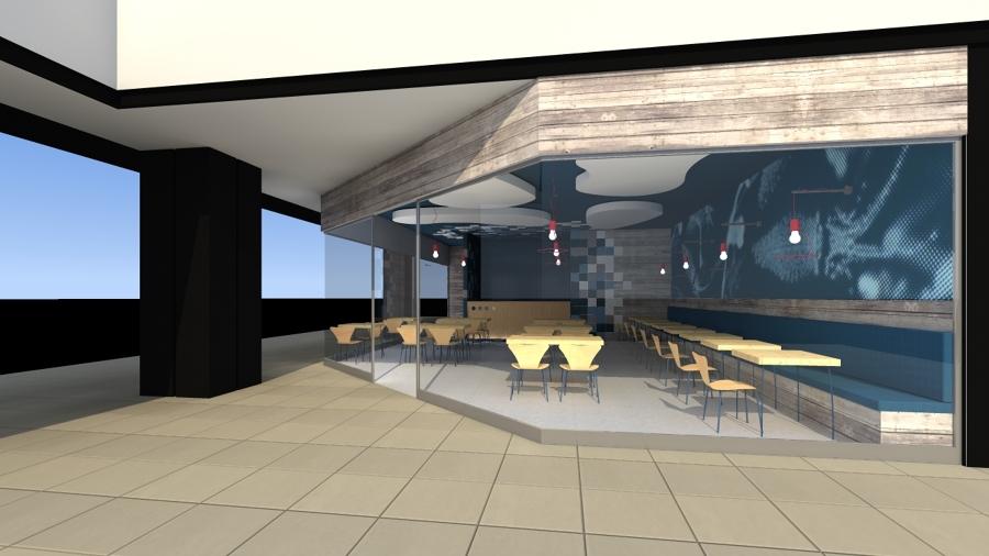 Restaurante de comidas rapidas ideas arquitectos for Fachadas de locales de comida rapida