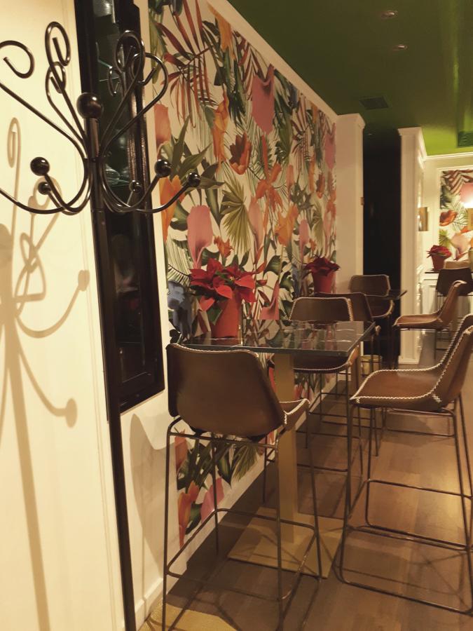Restaurante: Detalle papel pintado