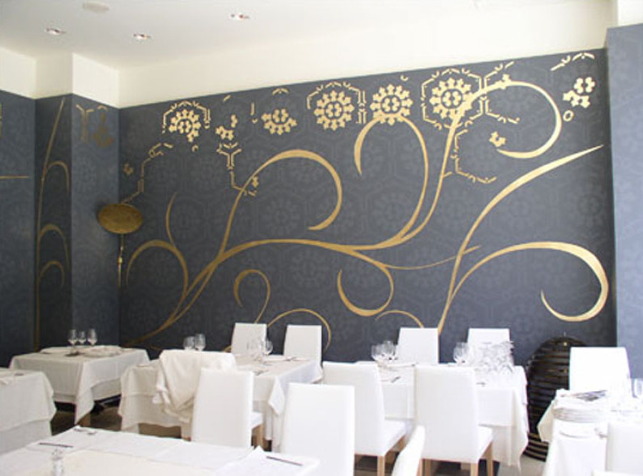"""Restaurante """"El portón del Duque""""  Madrid, proyecto de Tomas Alía."""