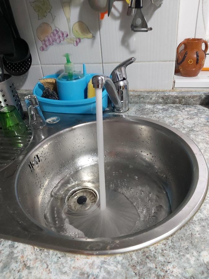 Resultado final en grifo de fregadero. Caudal y calidad del agua