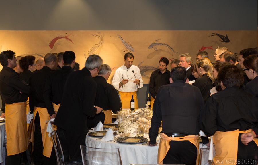 Reunión camafeos con uno de los chefs