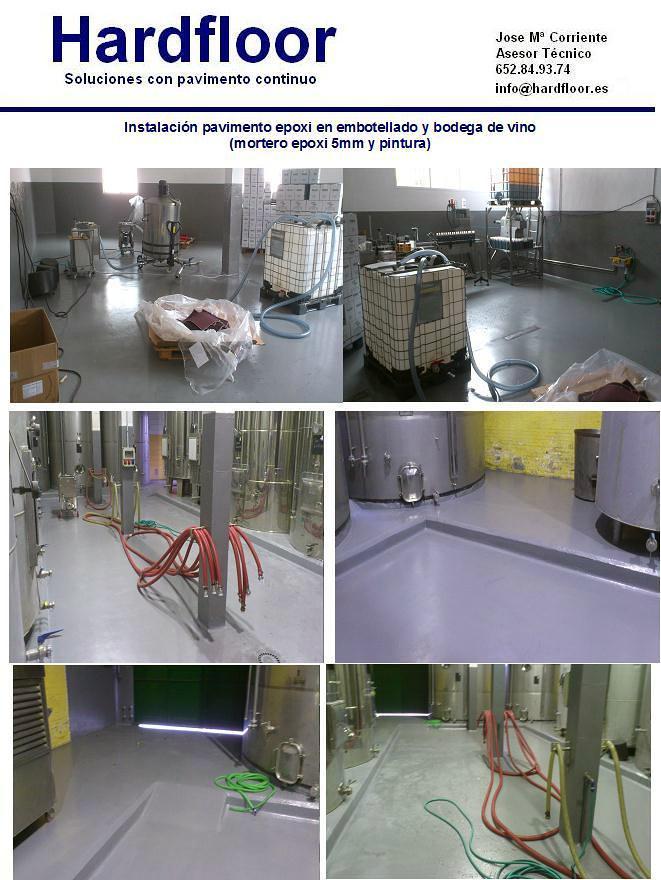 revestimento epoxi en suelo y paredes de bodega de vino