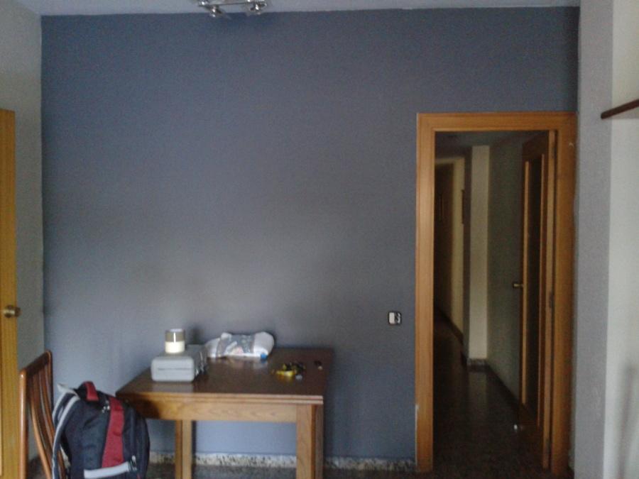 Revestimiento antihumedad y pintura de pared del salón