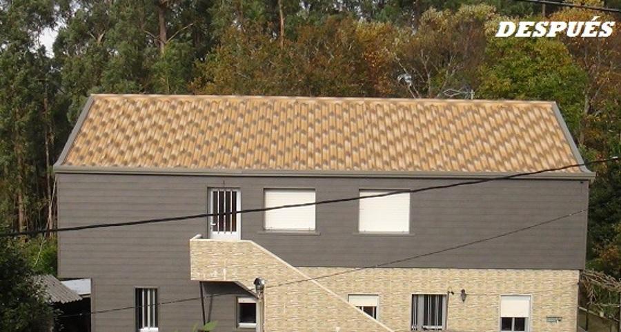 Foto revestimiento de fachada de pvc y cambio de cubierta de rehavigal s l 1194366 habitissimo - Revestimiento de fachada ...