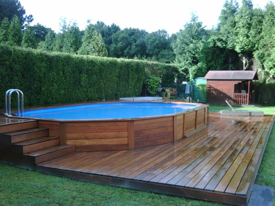 foto revestimiento de piscina con parquet de montaextrem tarimas y parquet 946600 habitissimo. Black Bedroom Furniture Sets. Home Design Ideas