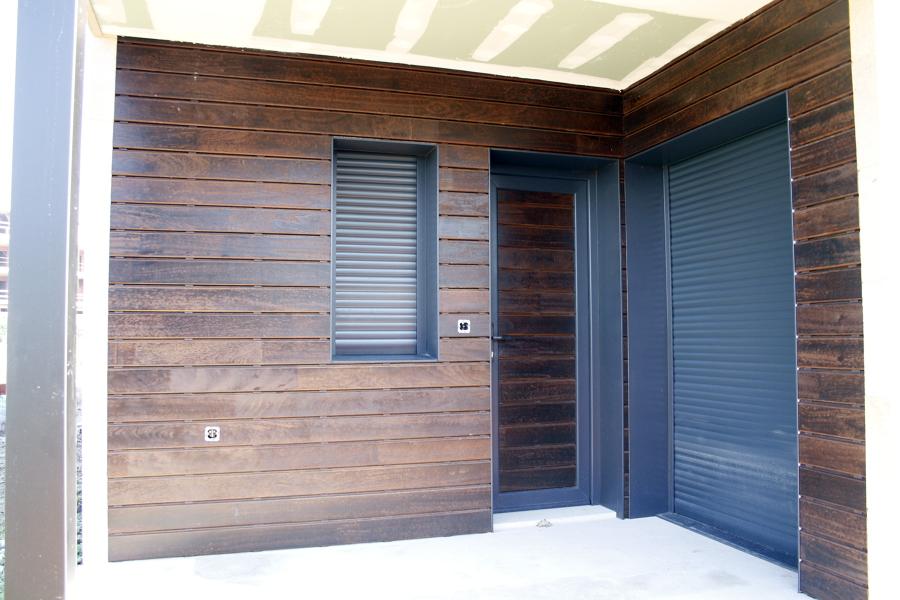 Revestimiento exterior con madera angel n pedra enlazada for Revestimiento tipo madera
