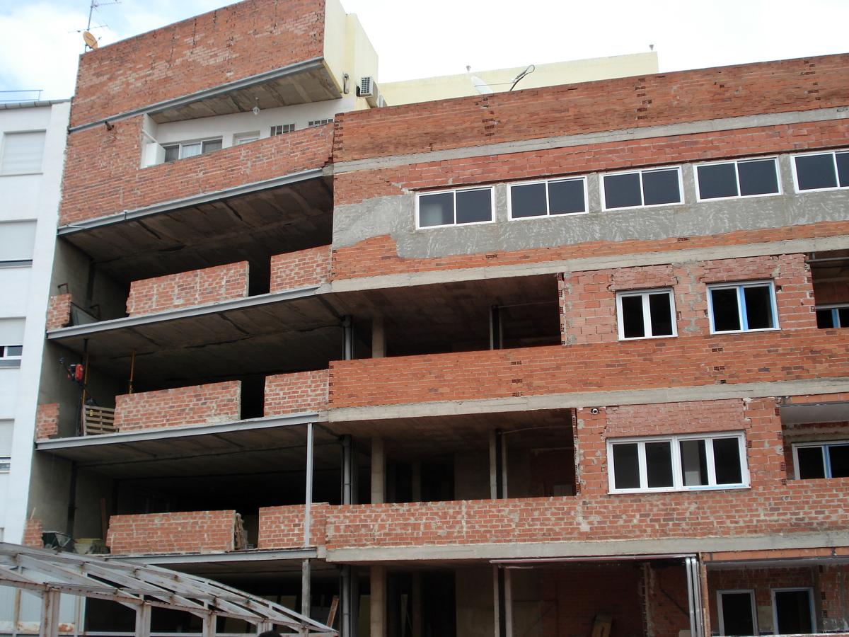 Revestimiento de fachada edificio en albacete ideas - Recubrimiento de fachadas ...