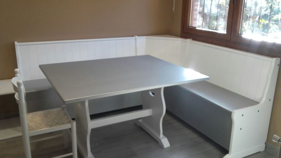 Foto: Rinconera Lacada Blanco/aluminio con Mesa de Loramu ...