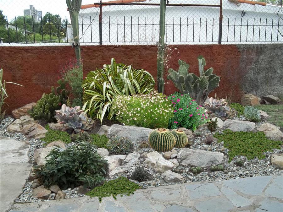 rocalla en jardín