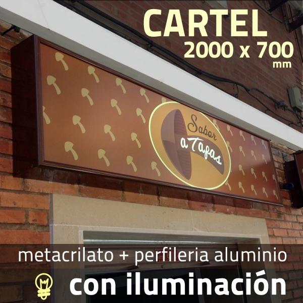 Rotulo luminoso / Cartel luminoso / Rótulos luminosos 2000 x 700