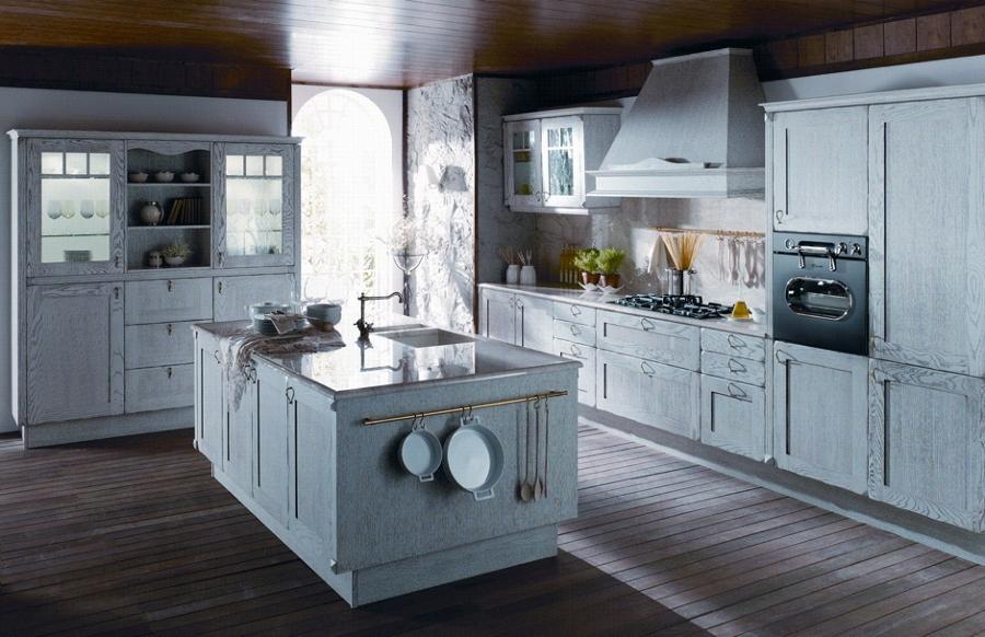 Calidez y dise o en cocinas r sticas ideas art culos - Cocinas rusticas en blanco ...
