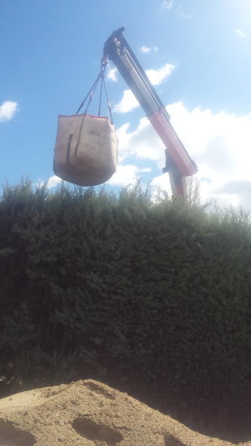 Sacas de tierra vegetal