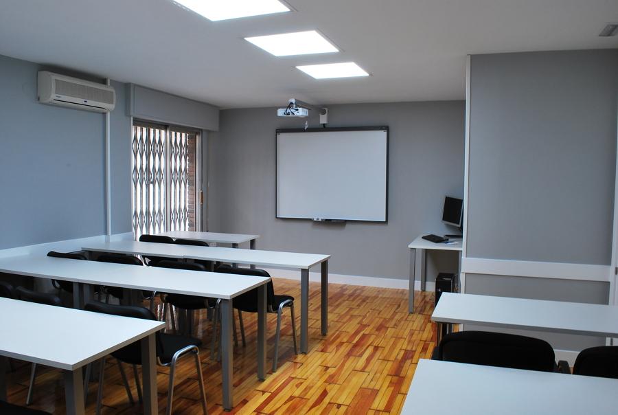 Sala de aula de formación