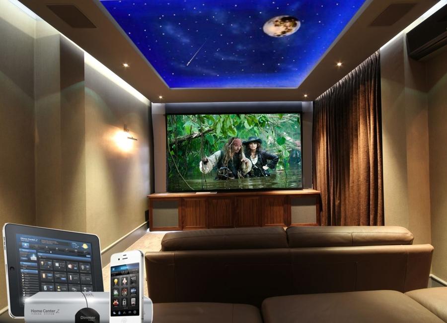 Foto sala de cine en casa con techo estrellado de dmqsky 993255 habitissimo - Sala de cine en casa ...