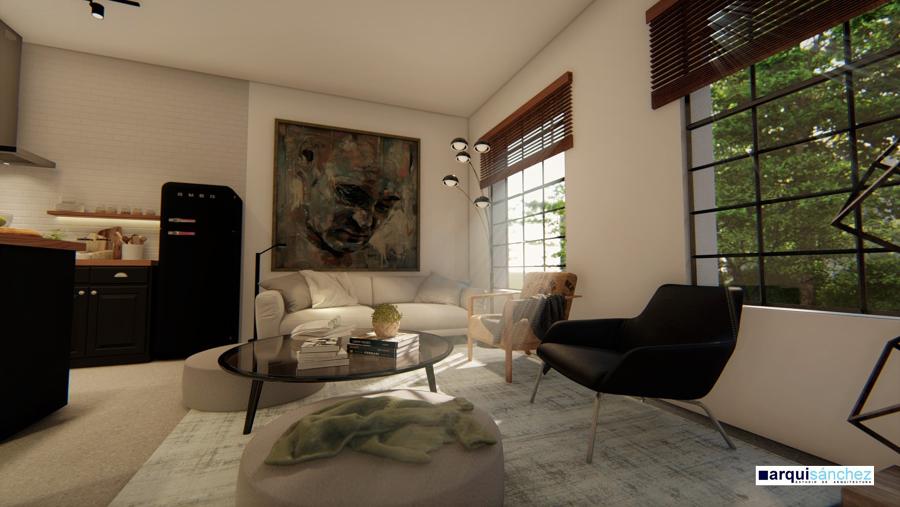 Sala de estar-cocina