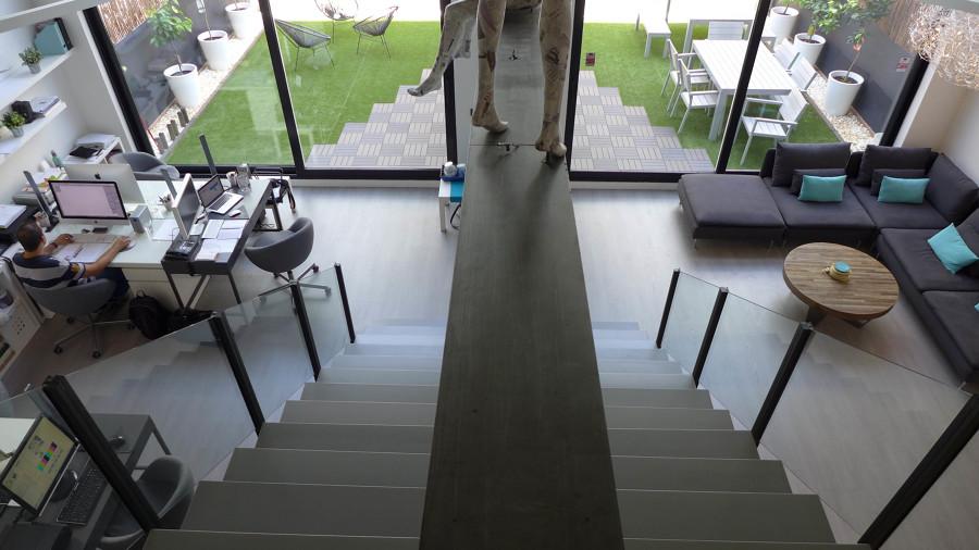 Sala de estar y trabajo