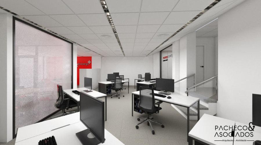 Sala de trabajo con 8 puestos de trabajo