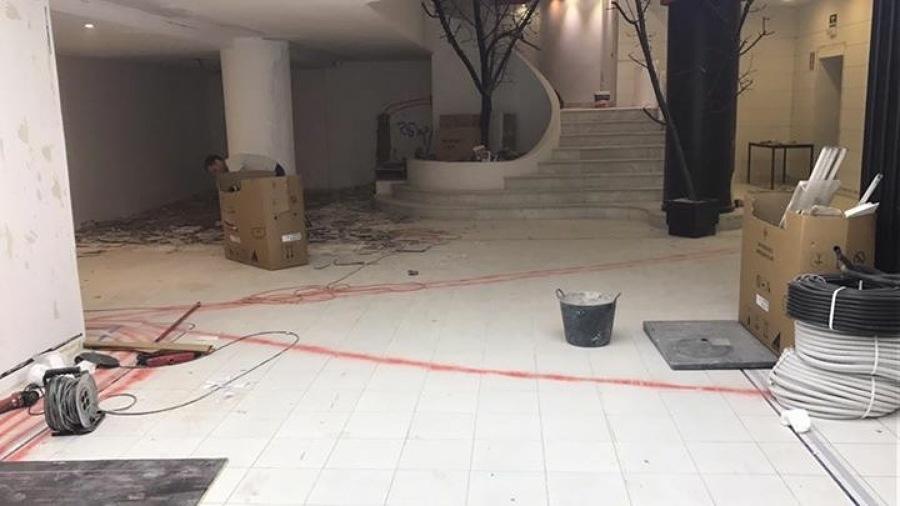 Sala de venta antes de demolición