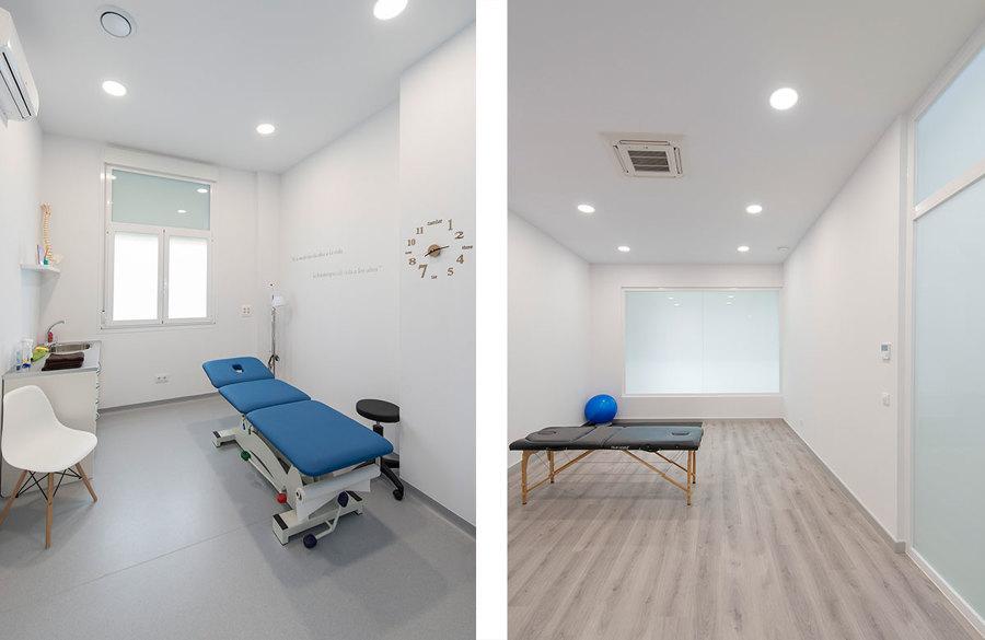 Salas para los distintos profesionales sanitarios