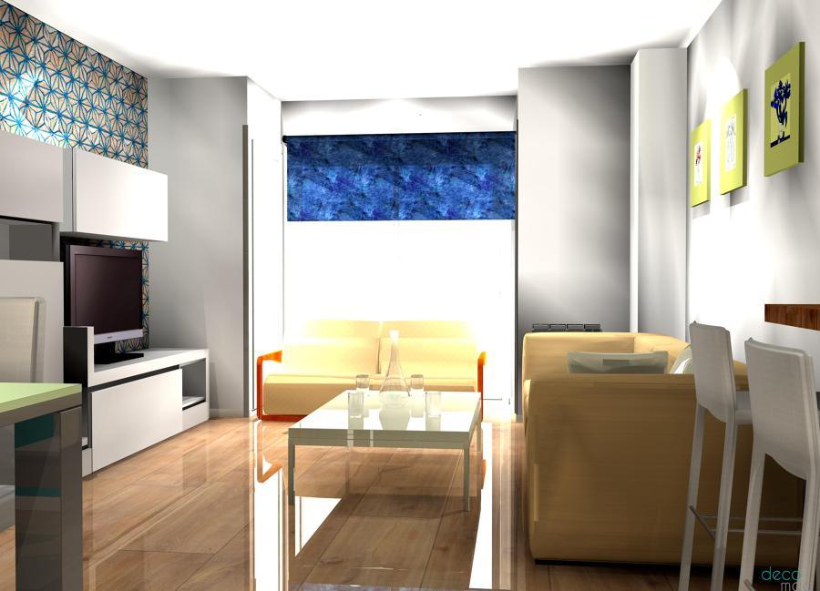Sal n con papel pintado ideas decoradores for Papel pintado aislante termico