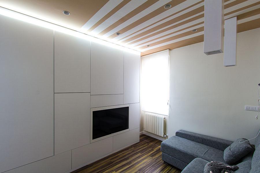 Vivienda de 47 m2 ideas reformas viviendas - Armarios para el salon ...