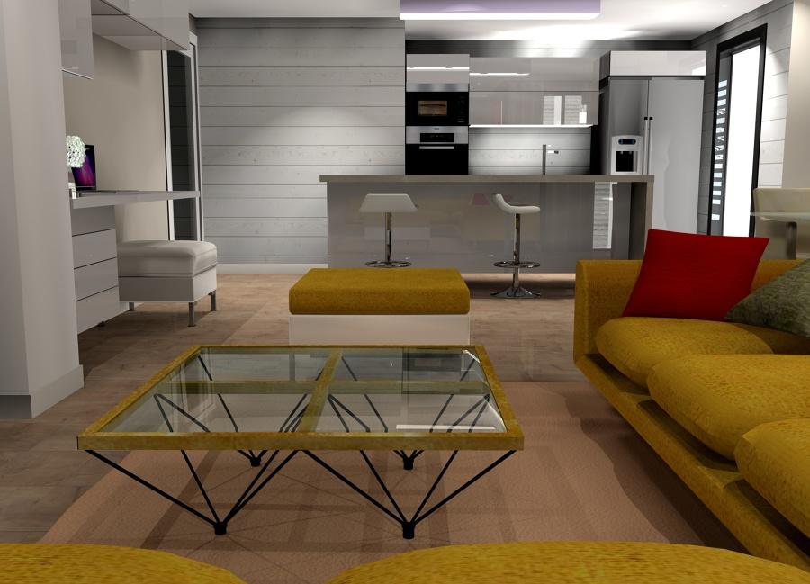 Salon abierto desde el sofa