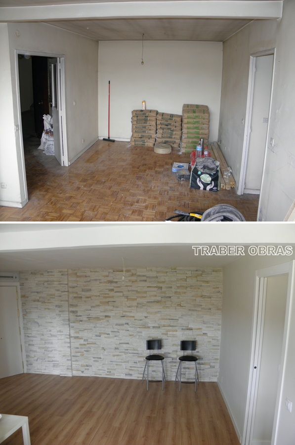 Salón antes y después