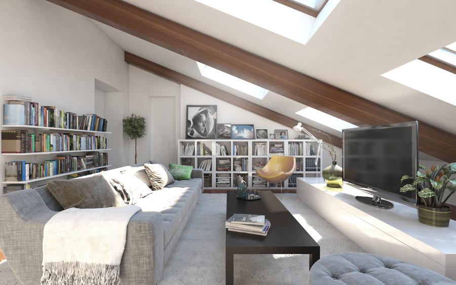 Salón bajo cubierta