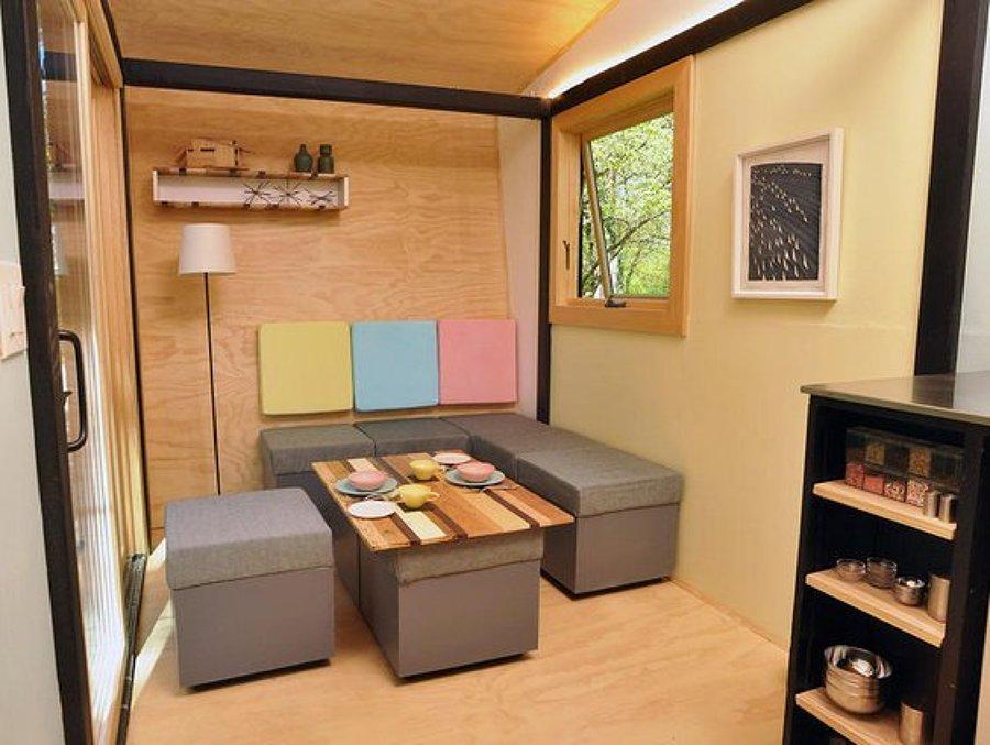 Salón casa madera