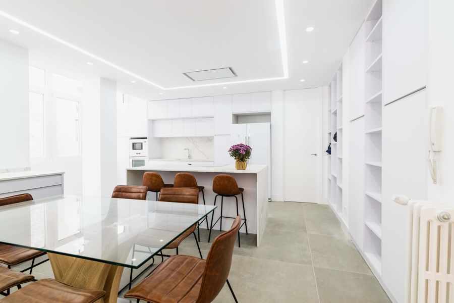 Salón cocina y pasillo abierto