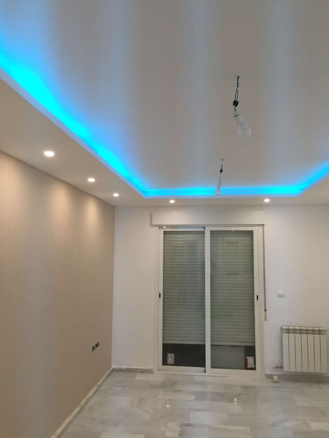 Techo Con Iluminacion Indirecta De Led Ideas Pladur - Iluminacion-salon-led