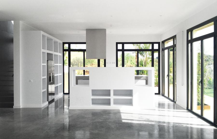 Salón comedor - Casa A | 08023 Arquitectos - Barcelona