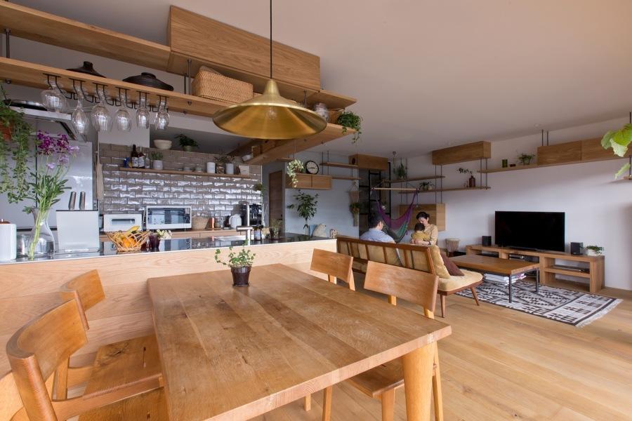 salón comedor cocina abiertos