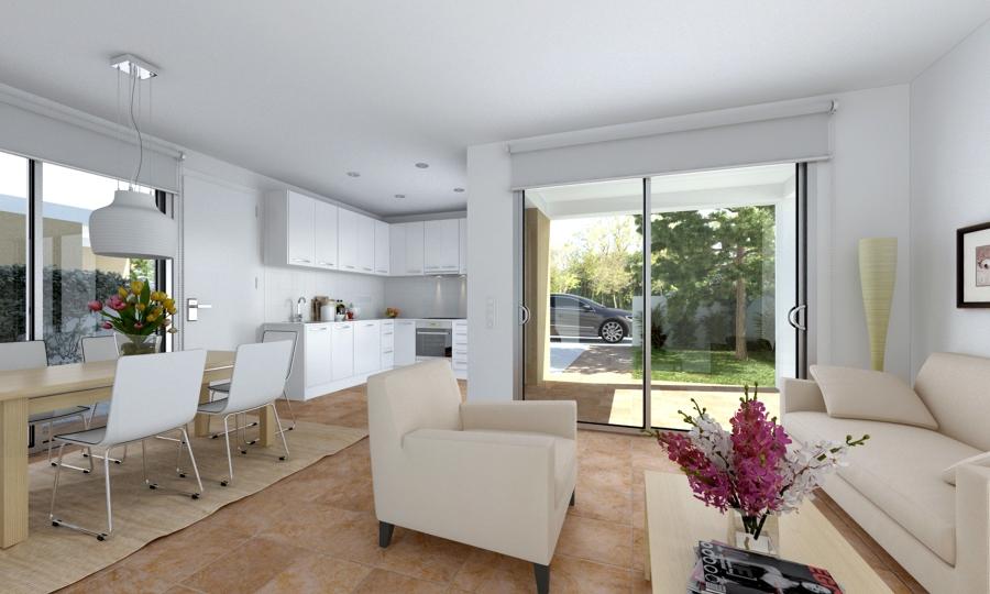6 viviendas unifamiliares ideas arquitectos for Cocina comedor salon