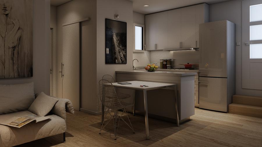Reforma tico ideas reformas viviendas - Cocina salon comedor ...