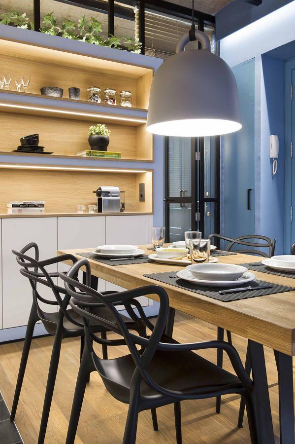 Salón comedor de estilo mediterráneo