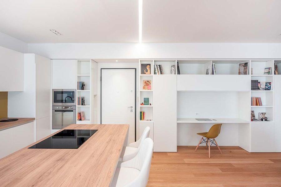 Salón, comedor y cocina de planta abierta