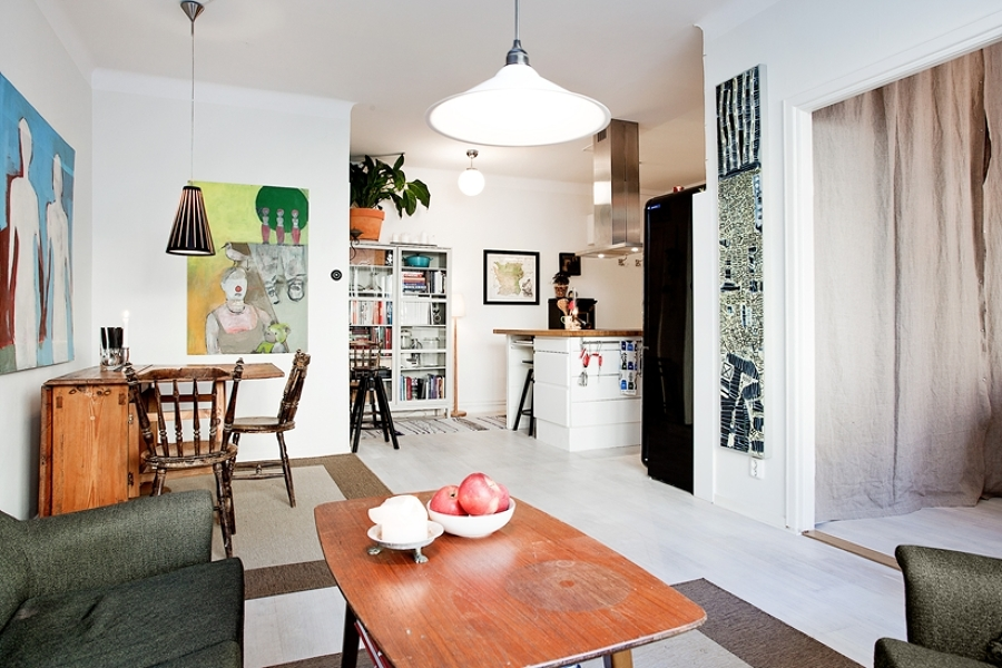 6 casas mini distribuidas en un solo espacio ideas - Cocina salon comedor ...
