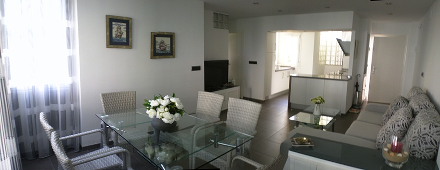 Salón-comedor y cocina integrada