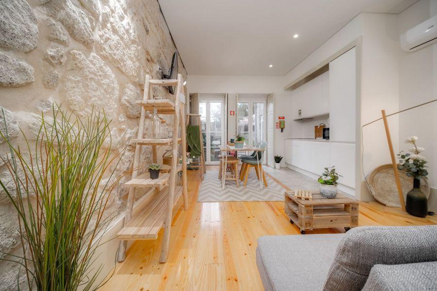 Salón comedor y cocina integrados en el mismo espacio