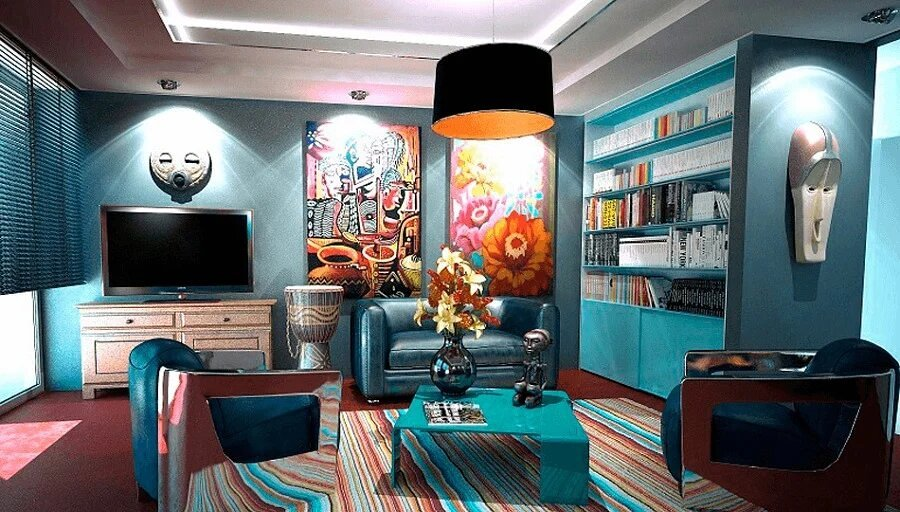 Salón con color