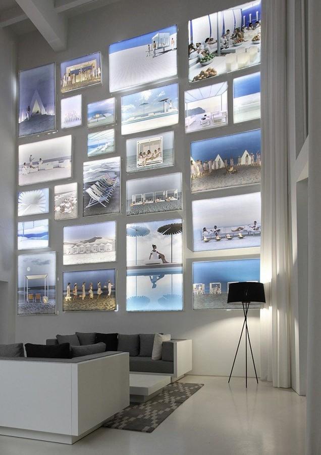 Salón con fotos