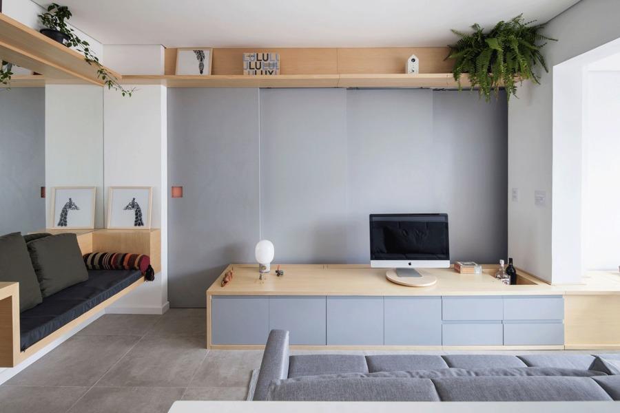 Salón con mobiliario bajo