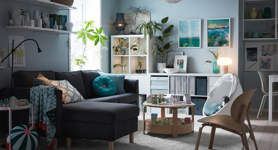 Salón con mobiliario de IKEA